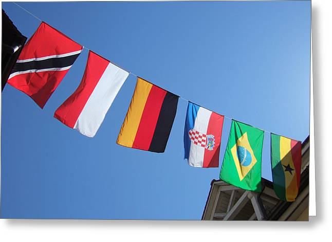 Flags Of Different Countries Greeting Card by Matthias Hauser