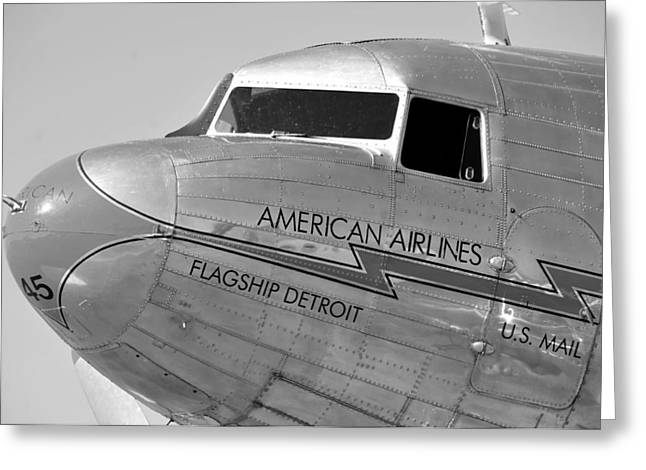 Dc-3 Greeting Cards - Flagship Detroit work number seven Greeting Card by David Lee Thompson