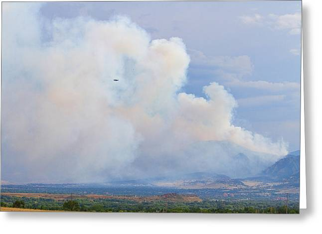 Colorado Wildfires Greeting Cards - Flagstaff Fire Day One 6pm Greeting Card by James BO  Insogna