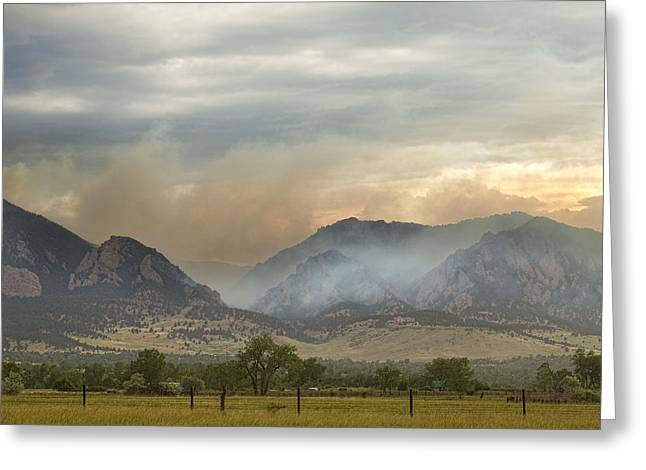 Colorado Wildfires Greeting Cards - Flagstaff Fire Greeting Card by James BO  Insogna