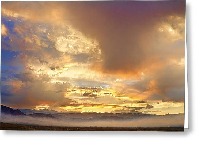 Colorado Wildfires Greeting Cards - Flagstaff Fire Sky Boulder Colorado Greeting Card by James BO  Insogna