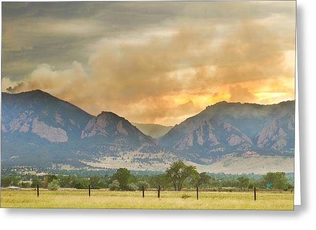 Flagstaff Greeting Cards - Flagstaff Fire View Greeting Card by James BO  Insogna