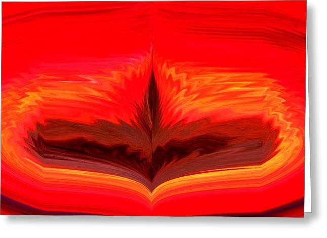 Recently Sold -  - Abstract Digital Pastels Greeting Cards - Flame 3 Greeting Card by Melvin Moon