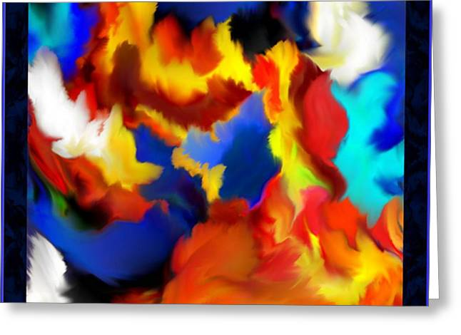 Mathilde Vhargon Greeting Cards - Flame Feathers Greeting Card by Mathilde Vhargon