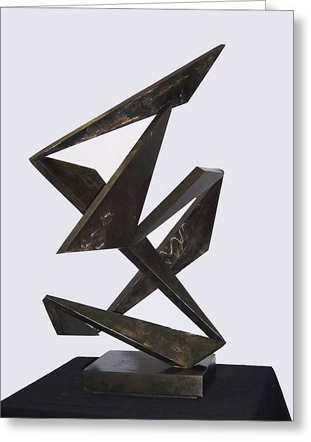 Abstract Movement Sculptures Greeting Cards - Flamenco Greeting Card by John Neumann