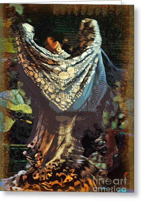 Clapping Greeting Cards - Flamenco Series No 1 Greeting Card by Mary Machare