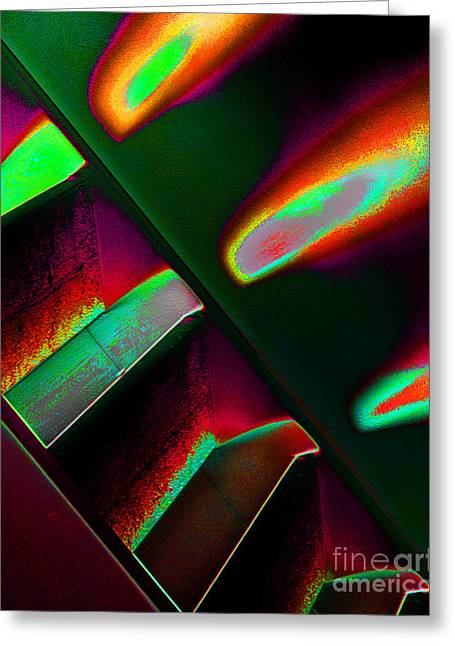 Digital Altered Greeting Cards - Flames One Greeting Card by Adriano Pecchio