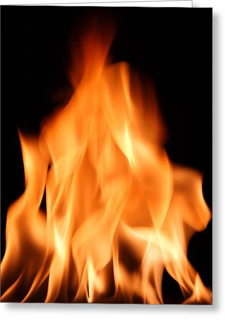 Heating Up Greeting Cards - Flames Greeting Card by Victor De Schwanberg
