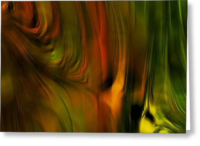 Tangerines Digital Greeting Cards - Flaming Color Greeting Card by Bonnie Bruno