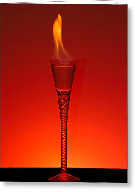 Filled Greeting Cards - Flaming Hot Greeting Card by Gert Lavsen