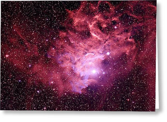 Aurigae Greeting Cards - Flaming Star Nebula Greeting Card by Celestial Image Co.