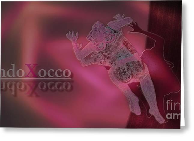 Flash Mixed Media Greeting Cards - Flash light Greeting Card by Mando Xocco