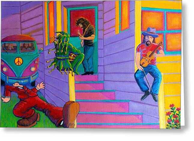 Grateful Dead Greeting Cards - Flashback Greeting Card by Frank Strasser