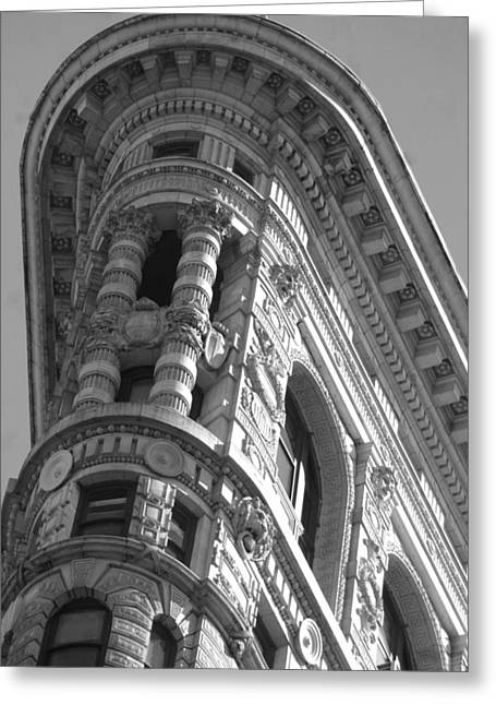 Flat Iron Building Greeting Cards - Flat iron Close Up Greeting Card by Mike Lindwasser Photography