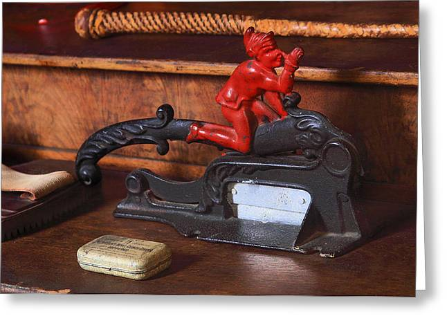 Flat Iron Tobacco Cutter Greeting Card by Viktor Savchenko