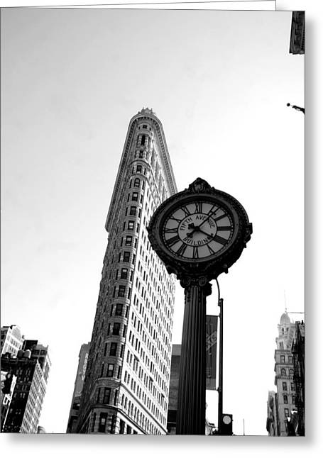 Flat Iron Building Greeting Cards - Flat iron Vertical Greeting Card by Mike Lindwasser Photography