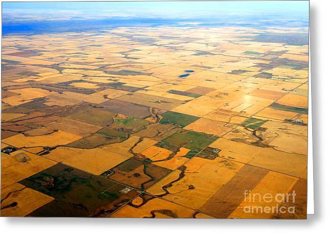 Alberta Prairie Landscape Greeting Cards - Flat Lands II Greeting Card by Al Bourassa