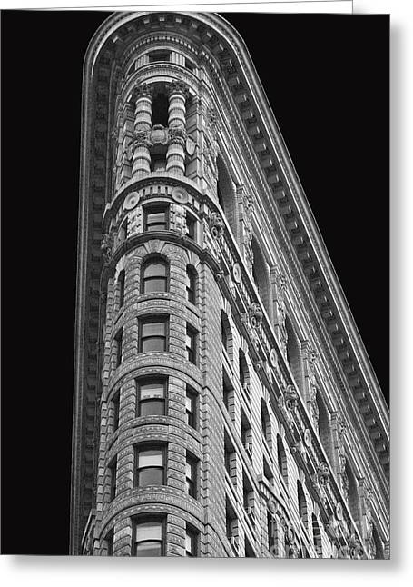Times Square Digital Art Greeting Cards - Flatiron Building Greeting Card by AdSpice Studios
