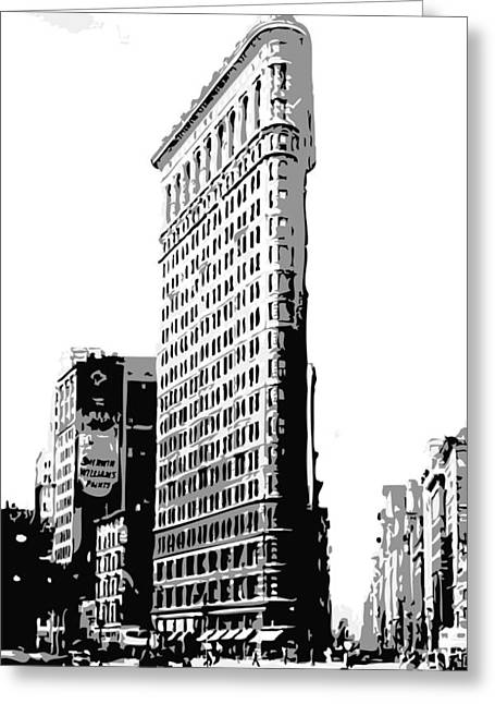 Capital Of The Universe Greeting Cards - Flatiron Building BW3 Greeting Card by Scott Kelley