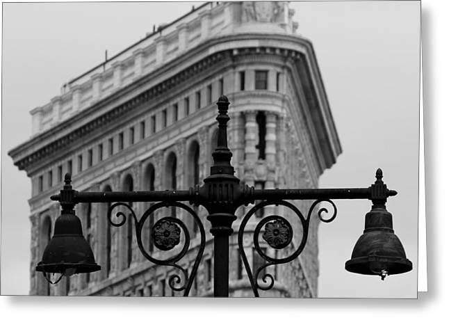 Flatiron Building Greeting Cards - Flatiron Building New York Greeting Card by Andrew Fare