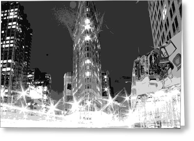 True Melting Pot Greeting Cards - Flatiron BW7 Greeting Card by Scott Kelley