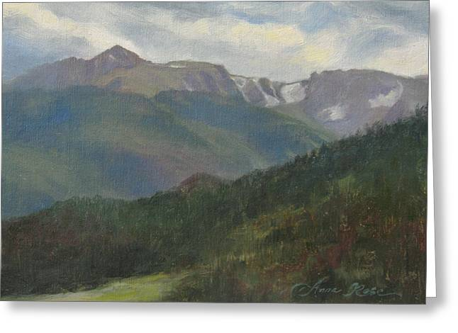Summit Greeting Cards - Flattop Mountain Greeting Card by Anna Bain