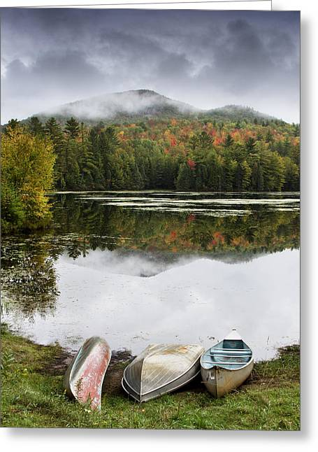 """high Peaks"" Greeting Cards - Flavor of the Adirondacks Greeting Card by Brendan Reals"