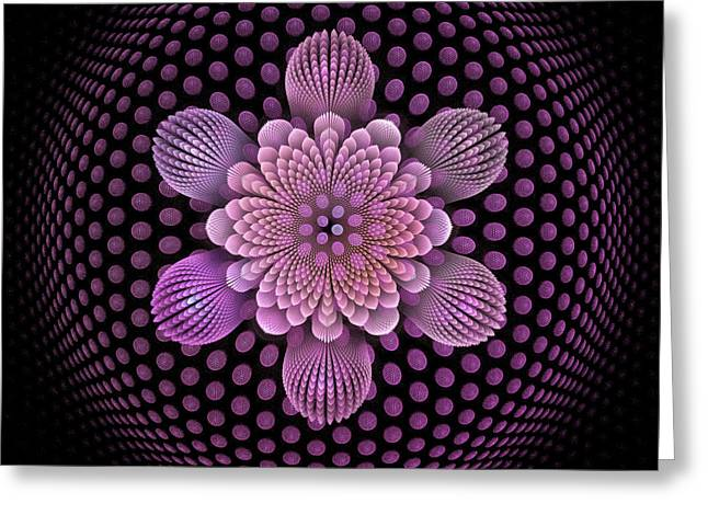 Fractal Art Greeting Cards - Fleur dAire Greeting Card by Pam Blackstone