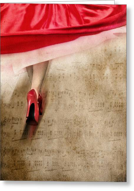 Long Skirt Greeting Cards - Fleur de Fleur Greeting Card by Svetlana Sewell