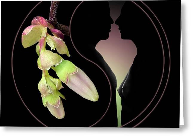 Floral Digital Art Digital Art Greeting Cards - Fleurotica Greeting Card by Torie Tiffany