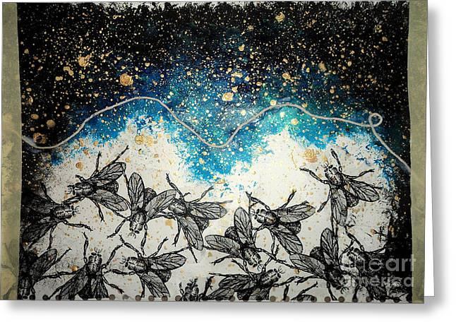Flies Greeting Card by Katherine Astles