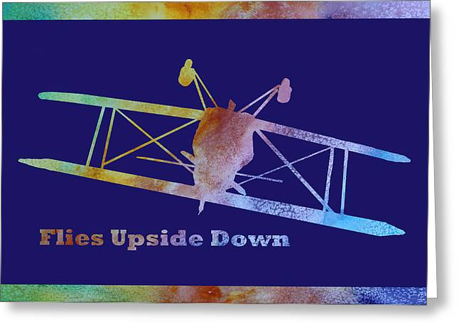 Flies Upside Down Greeting Card by Jenny Armitage
