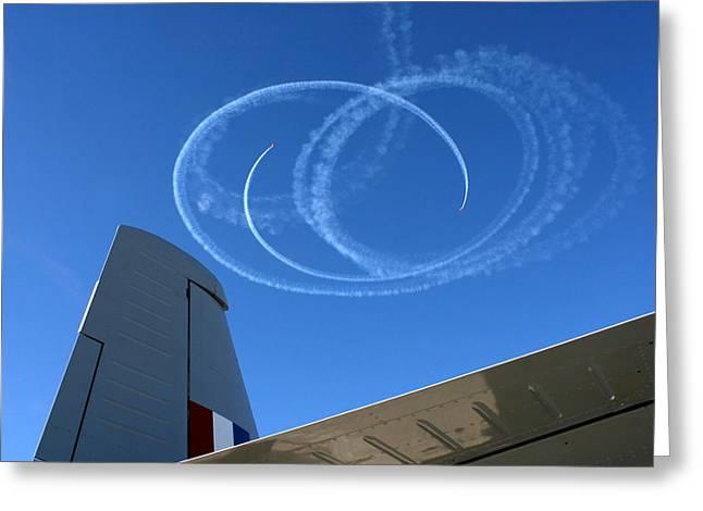 Air Pyrography Greeting Cards - Flight Dance Greeting Card by Vasil Vasilev