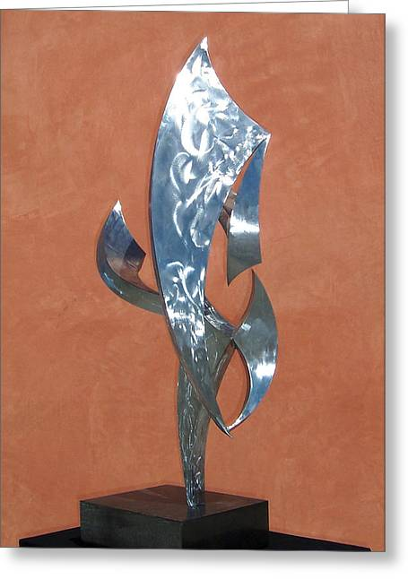 Abstract Movement Sculptures Greeting Cards - Flight Of Daphne Greeting Card by John Neumann
