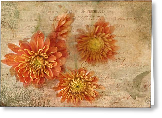 Kim Klassen Texture Greeting Cards - Flight of Fancy Greeting Card by Margaret Hormann Bfa
