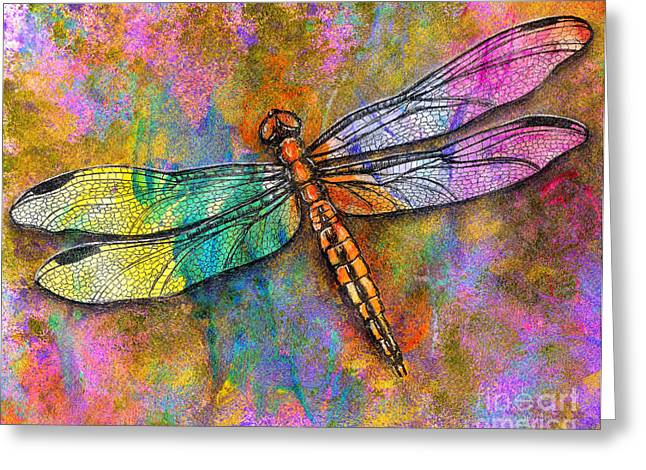 Dior Greeting Cards - Flight of the Dragonfly Greeting Card by Dion Dior