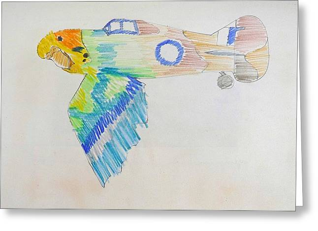 Flight Greeting Card by Virginia Stuart