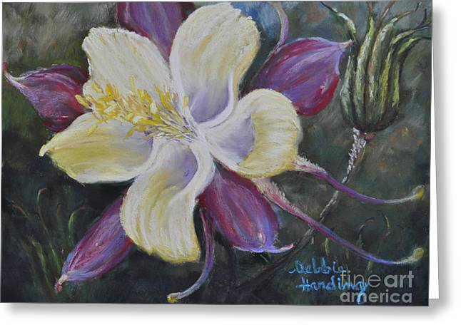 Close Up Floral Pastels Greeting Cards - Flights of Fancy Greeting Card by Debbie Harding