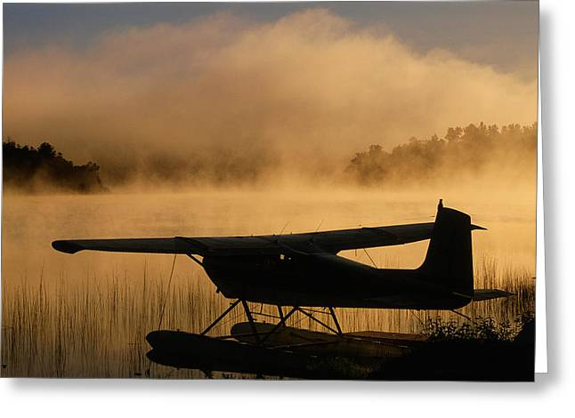 Floatplane Greeting Cards - Float Plane, Long Lake, Sudbury, Ontario Greeting Card by Mike Grandmailson