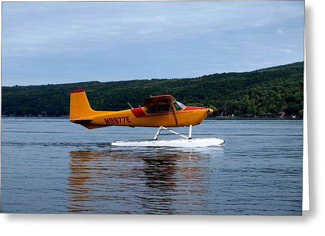 Keuka Lake Greeting Cards - Float Plane Two Greeting Card by Joshua House