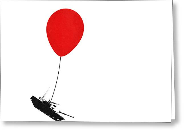 Political Statement Greeting Cards - Floating away  Greeting Card by Pixel Chimp