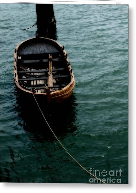 Plymouth Massachusetts Greeting Cards - Floating boat Greeting Card by Hideaki Sakurai