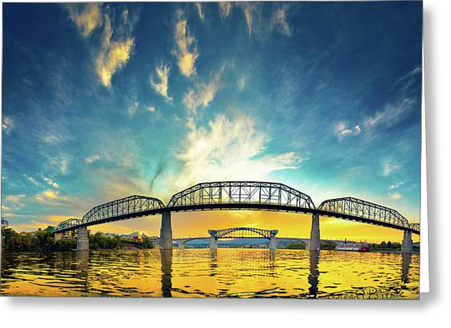 Chattanooga Greeting Cards - Floating On The River Greeting Card by Steven Llorca