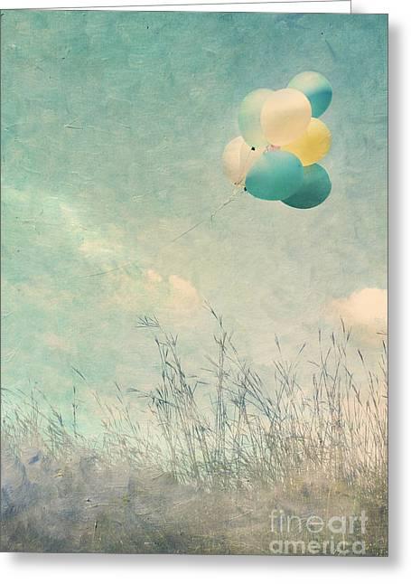 Helium Greeting Cards - Floating Greeting Card by Stephanie Frey
