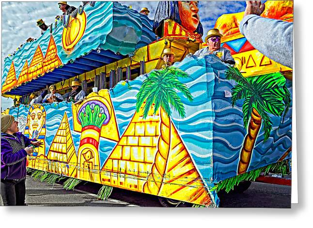 Metairie Greeting Cards - Floating Thru Mardi Gras 2 Greeting Card by Steve Harrington