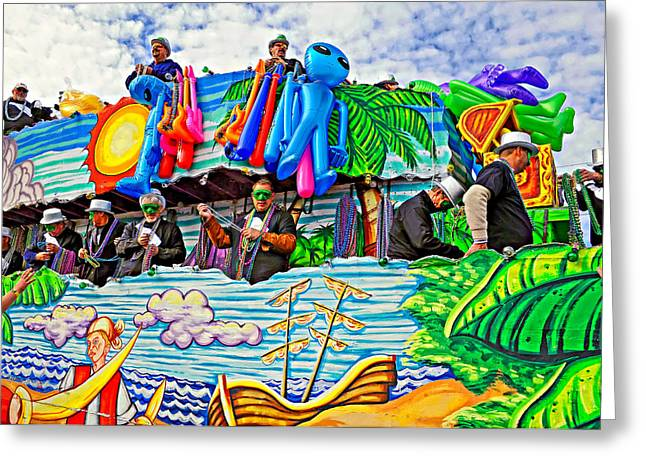 Metairie Greeting Cards - Floating Thru Mardi Gras 3 Greeting Card by Steve Harrington
