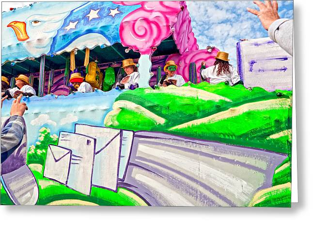 Thor Greeting Cards - Floating Thru Mardi Gras 4 Greeting Card by Steve Harrington