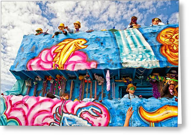 Metairie Greeting Cards - Floating Thru Mardi Gras Greeting Card by Steve Harrington