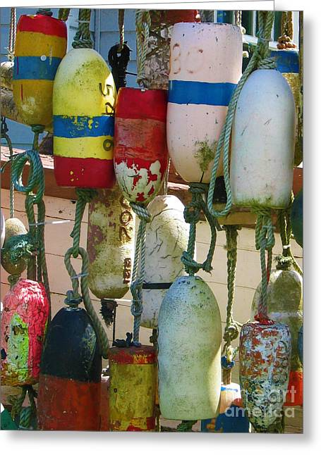 Ocean Floats Greeting Cards - Floats and Buoys I Greeting Card by Mg Rhoades