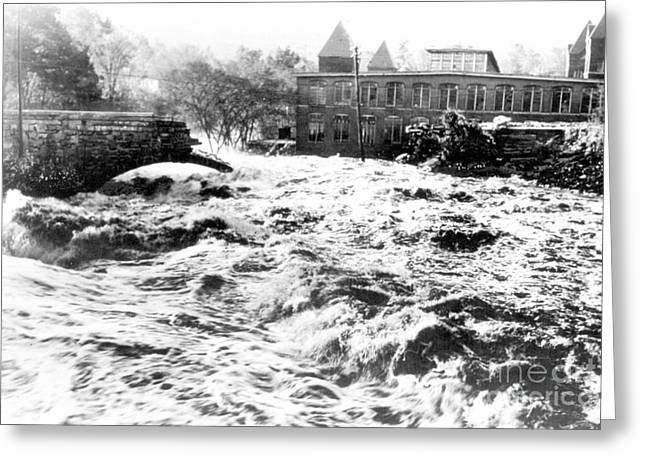 Flooding Greeting Cards - Flood, 1938 Greeting Card by Science Source
